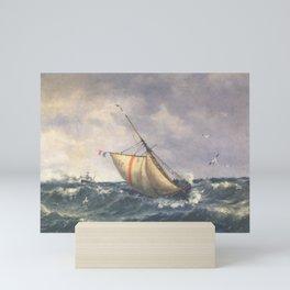 Ship in the Wind By Oscar Kleineh Mini Art Print