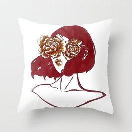 Flowers in My Eyes Throw Pillow