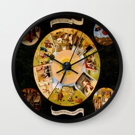 The Seven Deadly Sins and The Four Last Things Wall Clock