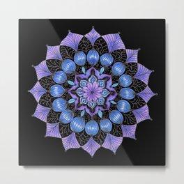 Rhapsodala in Blue (black background) Metal Print