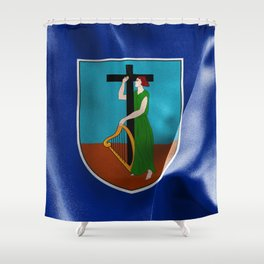 Montserrat Flag Shower Curtain