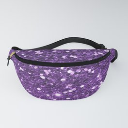 Trendy girly modern purple faux sequins Fanny Pack