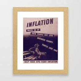 Vintage poster - Inflation Framed Art Print