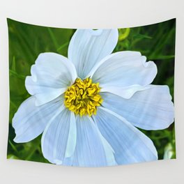 Hummingbird White (Digital Art) Wall Tapestry