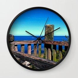 Grainy Wood Wall Clock