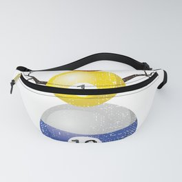 Ditressed Pool Ball Snowman Billiards Fanny Pack