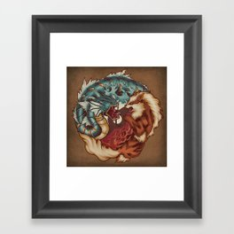 The Tiger and the Dragon Framed Art Print