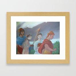 Oil sketch for Four Walking Deities Framed Art Print