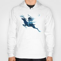 archer Hoodies featuring Elf Archer by Freeminds