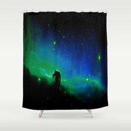 Horsehead nEBula. Blue & Green Shower Curtain