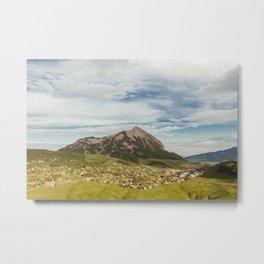 Tiny Mountain Town Metal Print