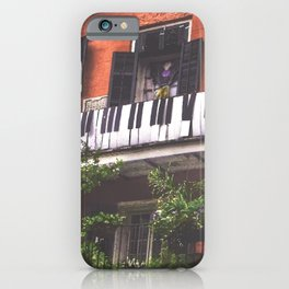 New Orleans French Quarter Piano Nola Home in Louisiana iPhone Case