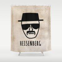 heisenberg Shower Curtains featuring Heisenberg! by Hannah Ison