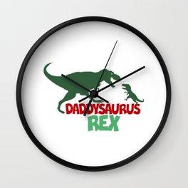 Daddysaurus Rex Wall Clock