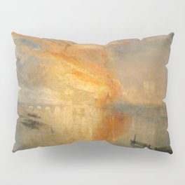 """J.M.W. Turner """"The Burning of the Houses of Lords and Commons""""(1835) Pillow Sham"""