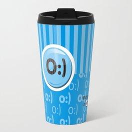 Blue Writer's Mood Travel Mug