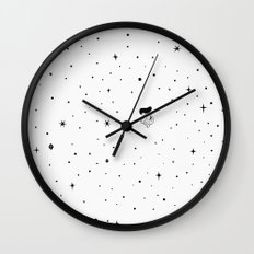 The universe - white Wall Clock