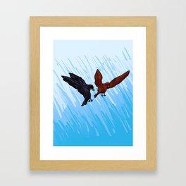 Blackbird Attack Framed Art Print