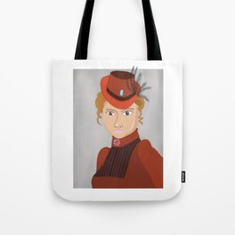 Lady in a Victorian Hat Tote Bag