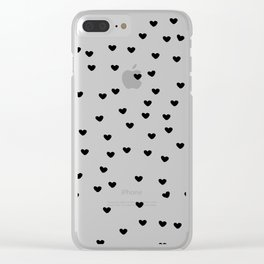 Lots of Little Hearts Brush Strokes Pattern Clear iPhone Case