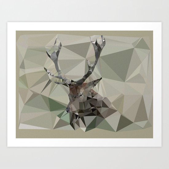 Cervus Elaphus Art Print