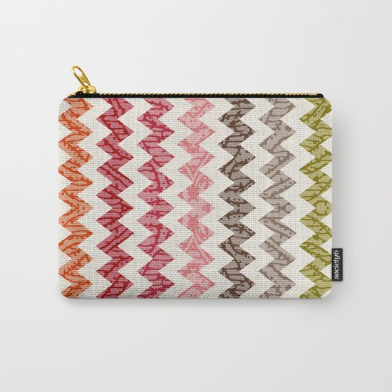 TRIBAL CHEVRON PATTERN Carry-All Pouch