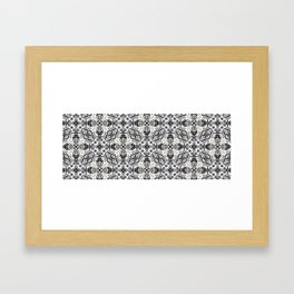 Black and White Lace Look-A-Like 622 Framed Art Print