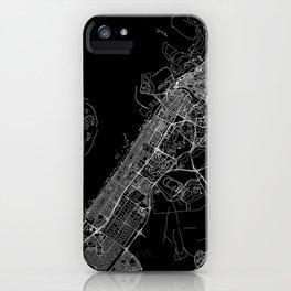 Dubai Black Map iPhone Case
