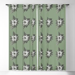 Florida Flower with Green Background Blackout Curtain