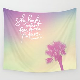 The Laughs without Fear of the Future Wall Tapestry