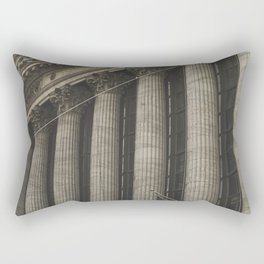 New York, Wall Street, stock exchange building, US flag, I love NY Rectangular Pillow
