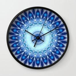 Mandala Iceblue Wall Clock