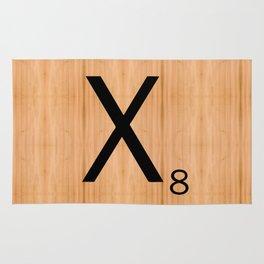 Scrabble Letter Tile - X Rug