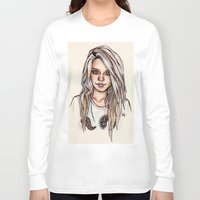 sky ferreira Long Sleeve T-shirts featuring Sky Ferreira by vooce & kat