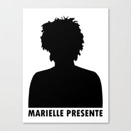 Marielle Franco Silhouette (Marielle Presente) Canvas Print