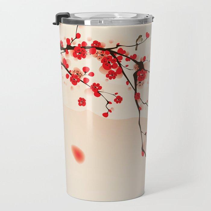 Oriental plum blossom in spring 003 Travel Mug