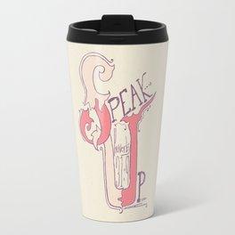 Speak Up | Proverbs 31:9 (feminine colors) Travel Mug