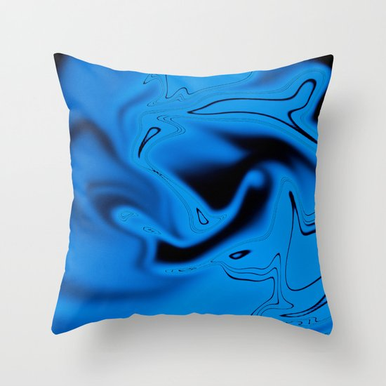 Simply Blue Throw Pillow