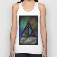 deathly hallows Tank Tops featuring Deathly Hallows - Dark! by Ria-Ra