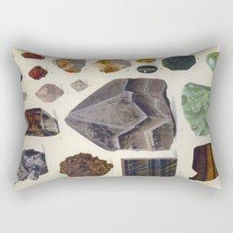 The Mineral Kingdom by Dr. Reinhard Brauns, 1903. Germany. Beautiful Gems Mineral Jewels Rectangular Pillow