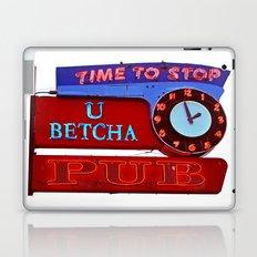 U Betcha Pub sign Laptop & iPad Skin