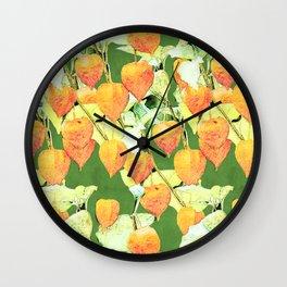 Chinese lantern plant Wall Clock