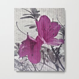 Vintage Style Flower Photo Metal Print