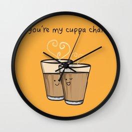You're My Cuppa Chai Wall Clock