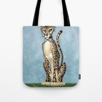 goth Tote Bags featuring Goth Cheetah by Sinccolor