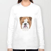 english bulldog Long Sleeve T-shirts featuring English bulldog by Hedera