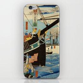 TIR-FA - Japan Print - Western traders at Yokohama transporting merchandise iPhone Skin