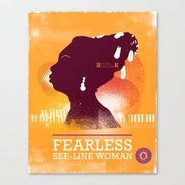 Fearless: See-line Woman Canvas Print