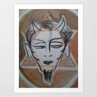 satan Art Prints featuring HA SATAN by Kathead Tarot/David Rivera