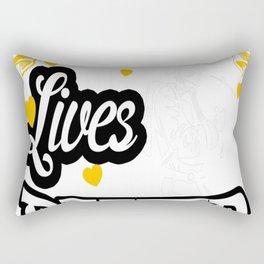 BRAVE FIREFIGHTER MAKE OUR LIVES BETTER Rectangular Pillow